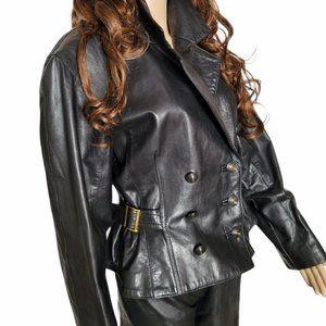 Vintage Danier Cropped Leather Jacket SZ Med-Large
